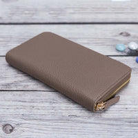 Seville Women's Leather Wallet - MINK - saracleather