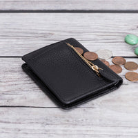 Fabio Leather Bifold Wallet - BLACK - saracleather