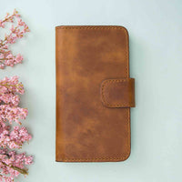 "Liluri Magnetic Detachable Leather Wallet Case for iPhone 11 Pro Max (6.5"") - TAN - saracleather"
