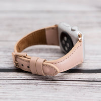 Slim Strap - Full Grain Leather Band for Apple Watch 38mm / 40mm - PINK - saracleather