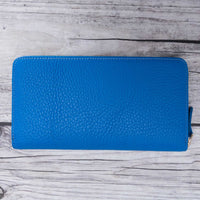 Seville Women's Leather Wallet - BLUE - saracleather