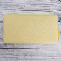 Seville Women's Leather Wallet - LEMON - saracleather