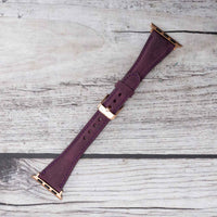 Slim Strap - Full Grain Leather Band for Apple Watch 38mm / 40mm - PURPLE - saracleather