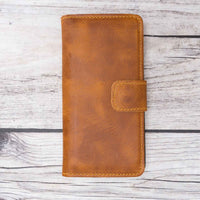 Liluri Magnetic Detachable Leather Wallet Case for iPhone 6 / 6S - TAN - saracleather