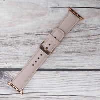 Full Grain Leather Band for Apple Watch 38mm / 40mm - GREY - saracleather