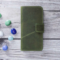 "Liluri Magnetic Detachable Leather Wallet Case for iPhone X / XS (5.8"") - GREEN - saracleather"