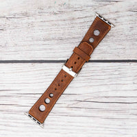 Holo Strap: Full Grain Leather Band for Apple Watch 38mm / 40mm - BROWN - saracleather