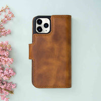 "Liluri Magnetic Detachable Leather Wallet Case for iPhone 11 Pro (5.8"") - TAN - saracleather"