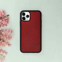 "Santa Magnetic Detachable Leather Tri-Fold Wallet Case for iPhone 11 Pro Max (6.5"") - RED - saracleather"
