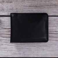 Pier Leather Men's Bifold Wallet - BLACK - saracleather