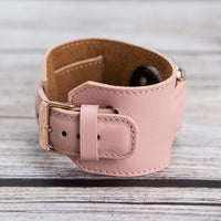 Cuff Strap: Full Grain Leather Band for Apple Watch 38mm / 40mm - PINK - saracleather