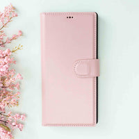 Magic Magnetic Detachable Leather Wallet Case for Samsung Galaxy Note 10 Plus / Note 10 Plus 5G - PINK - saracleather