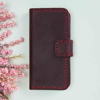"Flora Leather Wallet Case for iPhone XS Max (6.5"") - RED - saracleather"