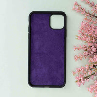 "Magic Magnetic Detachable Leather Wallet Case for iPhone 11 (6.1"") - PURPLE - saracleather"