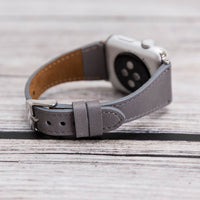 Slim Strap - Full Grain Leather Band for Apple Watch 38mm / 40mm - GRAY - saracleather