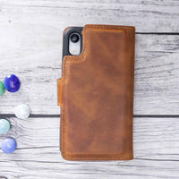 "Liluri Magnetic Detachable Leather Wallet Case for iPhone XR (6.1"") - TAN - saracleather"