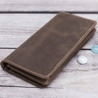 Big Leather Wallet - BROWN - saracleather