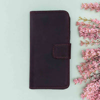 "Liluri Magnetic Detachable Leather Wallet Case for iPhone XS Max (6.5"") - PURPLE - saracleather"