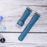 Full Grain Leather Band for Apple Watch 38mm / 40mm - BLUE - saracleather
