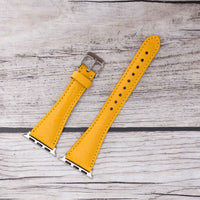 Slim Strap - Full Grain Leather Band for Apple Watch 38mm / 40mm - YELLOW - saracleather