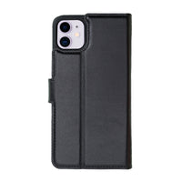 "Magic Magnetic Detachable Leather Wallet Case for iPhone 11 (6.1"") - BLACK - saracleather"