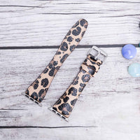 Full Grain Leather Band for Apple Watch 38mm / 40mm - LEOPARD PATTERNED - saracleather