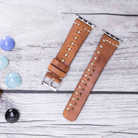 Full Grain Leather Band for Apple Watch 38mm / 40mm - CAMEL - saracleather