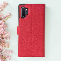 Magic Magnetic Detachable Leather Wallet Case for Samsung Galaxy Note 10 Plus / Note 10 Plus 5G - RED - saracleather