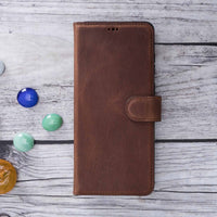 "Magic Magnetic Detachable Leather Wallet Case for Samsung Galaxy S20 Plus (6.7"") - BROWN - saracleather"