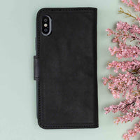 "Liluri Magnetic Detachable Leather Wallet Case for iPhone XS Max (6.5"") - BLACK - saracleather"