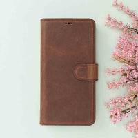 "Magic Magnetic Detachable Leather Wallet Case for iPhone 11 (6.1"") - BROWN - saracleather"