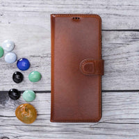 "Magic Magnetic Detachable Leather Wallet Case for Samsung Galaxy S20 Ultra (6.9"") - EFFECT BROWN - saracleather"