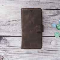 "Magic Magnetic Detachable Leather Wallet Case for iPhone X / XS (5.8"") - BROWN - saracleather"