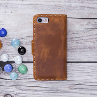 Adel Magnetic Detachable Leather Wallet Case for iPhone 8 / 7 - TAN