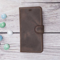 Magic Magnetic Detachable Leather Wallet Case for iPhone 8 Plus / 7 Plus - BROWN - saracleather