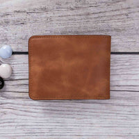 Pier Leather Men's Bifold Wallet - TAN - saracleather