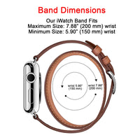 Ferro Double Tour Strap: Full Grain Leather Band for Apple Watch 38mm / 40mm - WHITE - saracleather