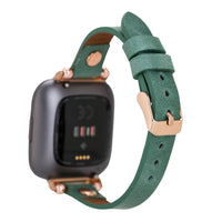 Full Grain Leather Band for Fitbit Versa 2 / Fitbit Versa 1 / Fitbit Versa Lite - GREEN - saracleather