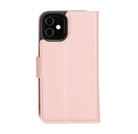 "Magic Magnetic Detachable Leather Wallet Case for iPhone 12 Mini (5.4"") - PINK - saracleather"