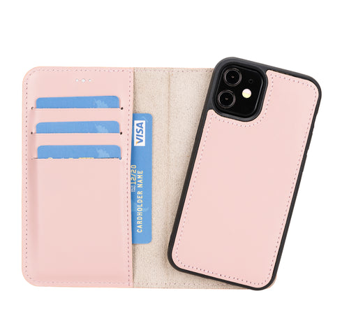 "Magic Magnetic Detachable Leather Wallet Case for iPhone 12 Mini (5.4"") - PINK"