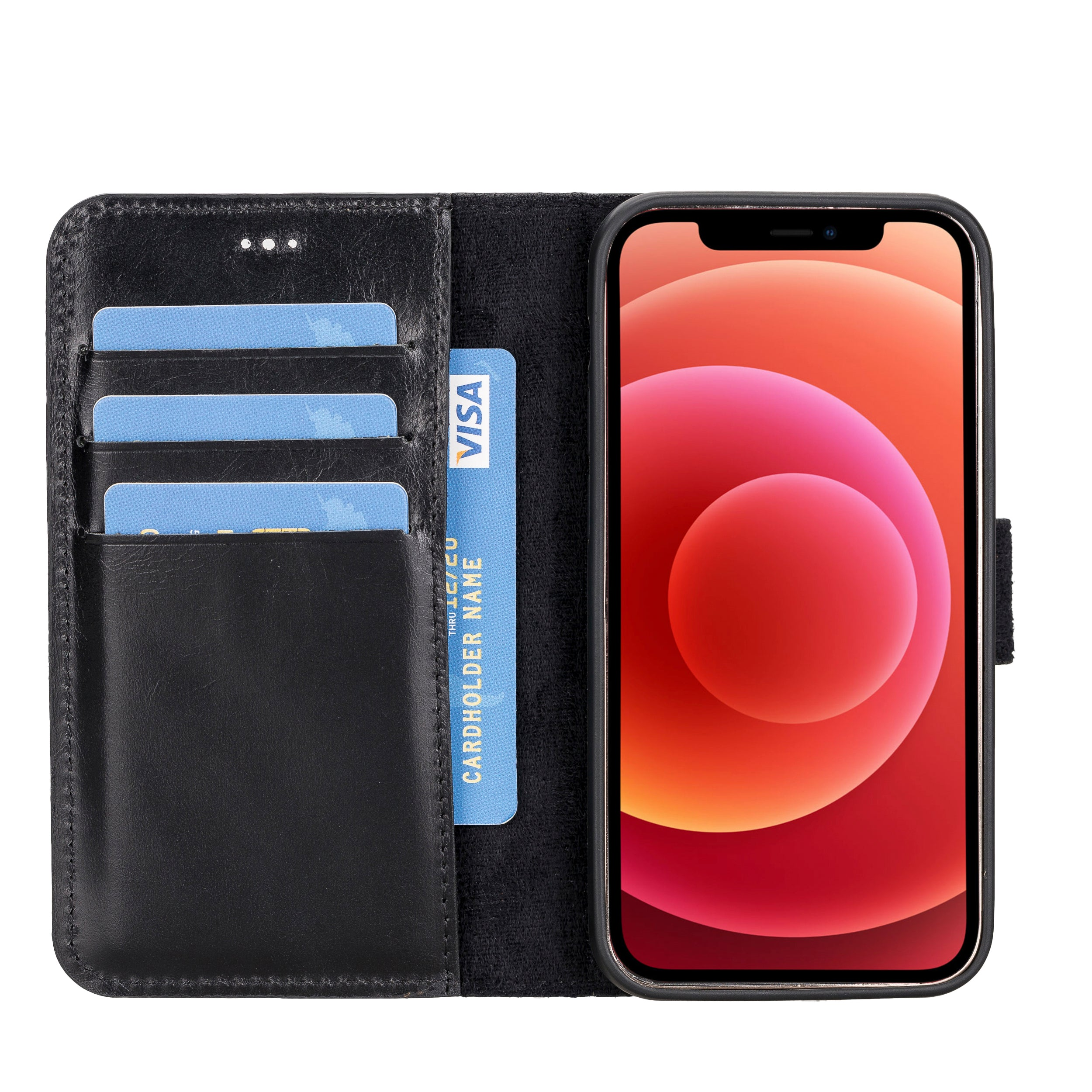 Magic Magnetic Detachable Leather Wallet Case for iPhone 12 Mini (5.4