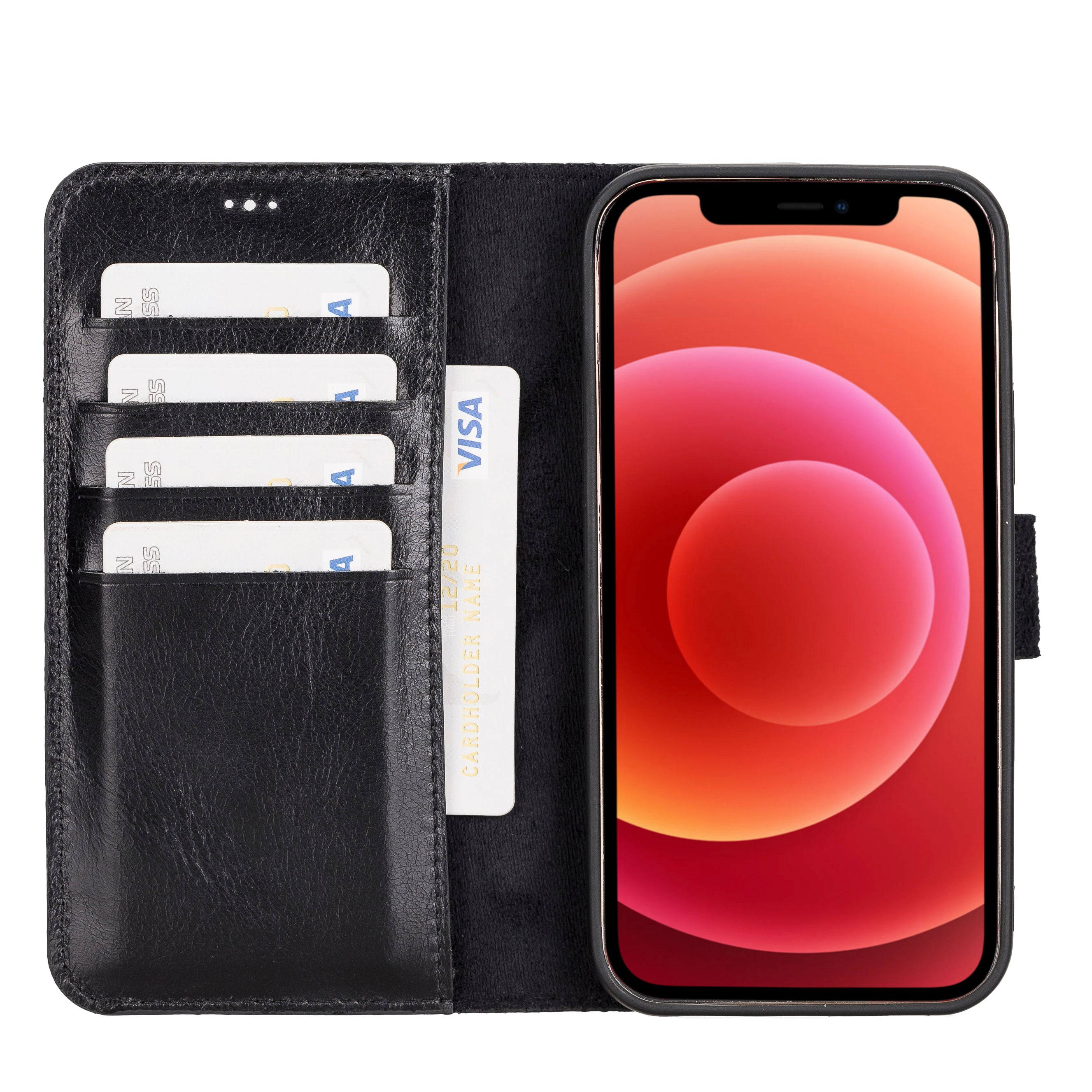 Magic Magnetic Detachable Leather Wallet Case for iPhone 12 Pro (6.1
