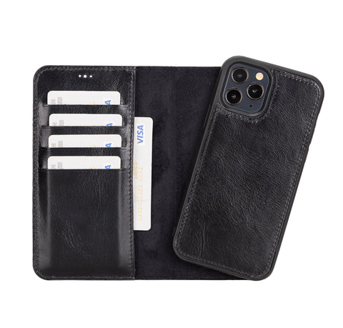 "Magic Magnetic Detachable Leather Wallet Case for iPhone 12 Pro (6.1"") - BLACK"