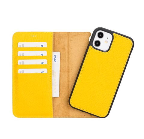"Magic Magnetic Detachable Leather Wallet Case for iPhone 12 (6.1"") - YELLOW"