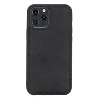 "Liluri Magnetic Detachable Leather Wallet Case for iPhone 12 Pro Max (6.7"") - BLACK - saracleather"