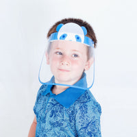 100 Pieces - Magic Visors Face Shield for Kids Blue - saracleather