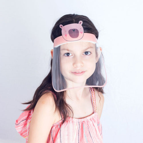 3 Pieces - Magic Visors Face Shield for Kids Pink - saracleather