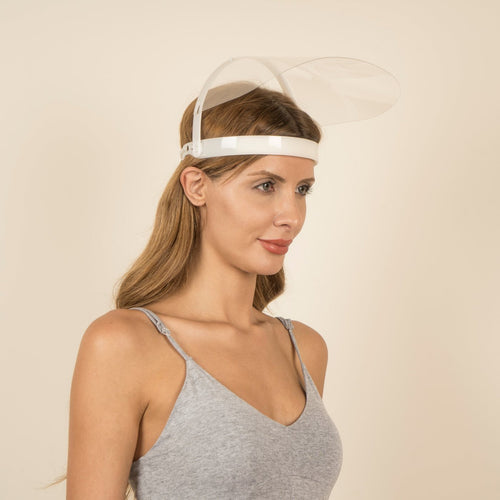 100 Pieces - Magic Visors Mechanism 01 | Mechanism Face Shield | White - saracleather