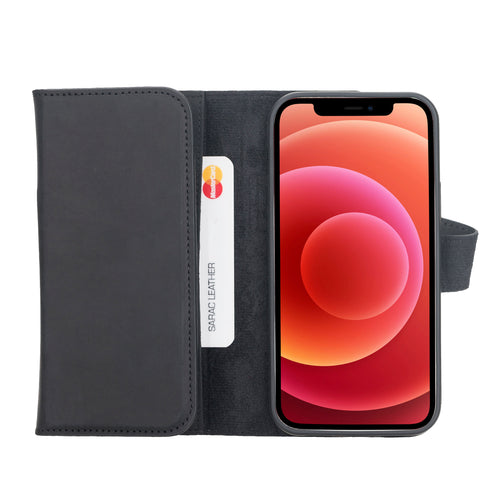 Santa Magnetic Detachable Leather Wallet Case for iPhone 12 (6.1