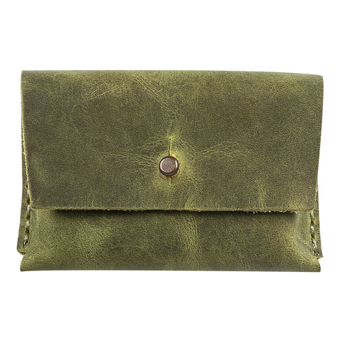 Dione Leather Business Card Holder - GREEN - saracleather